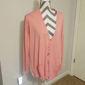 Halogen pink cardigan XL